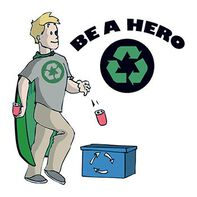 Recycling Hero Temporary Tattoo