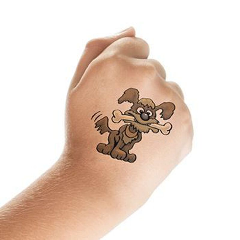 Dog and Bone Temporary Tattoo image number null