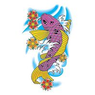 Traditional Koi Fish Temporary Tattoo
