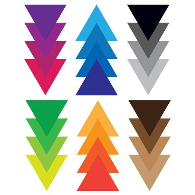 Ombre Triangles Temporary Tattoo image number null