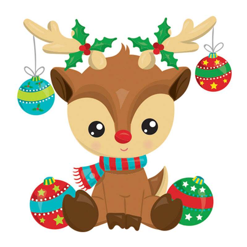 Reindeer with Ornaments Temporary Tattoo image number null