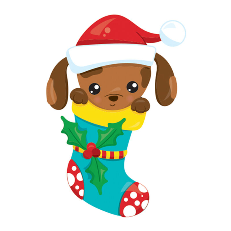 Puppy in a Stocking Temporary Tattoo image number null