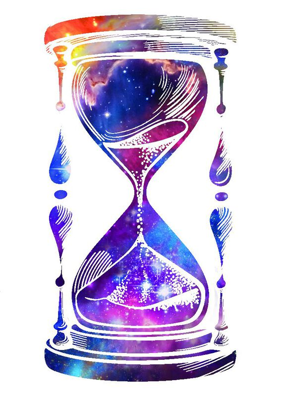 Galaxy Hourglass Temporary Tattoo image number null