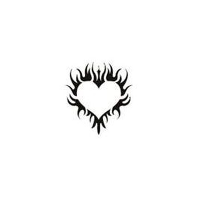 Glitter Tribal Heart Temporary Tattoo image number null