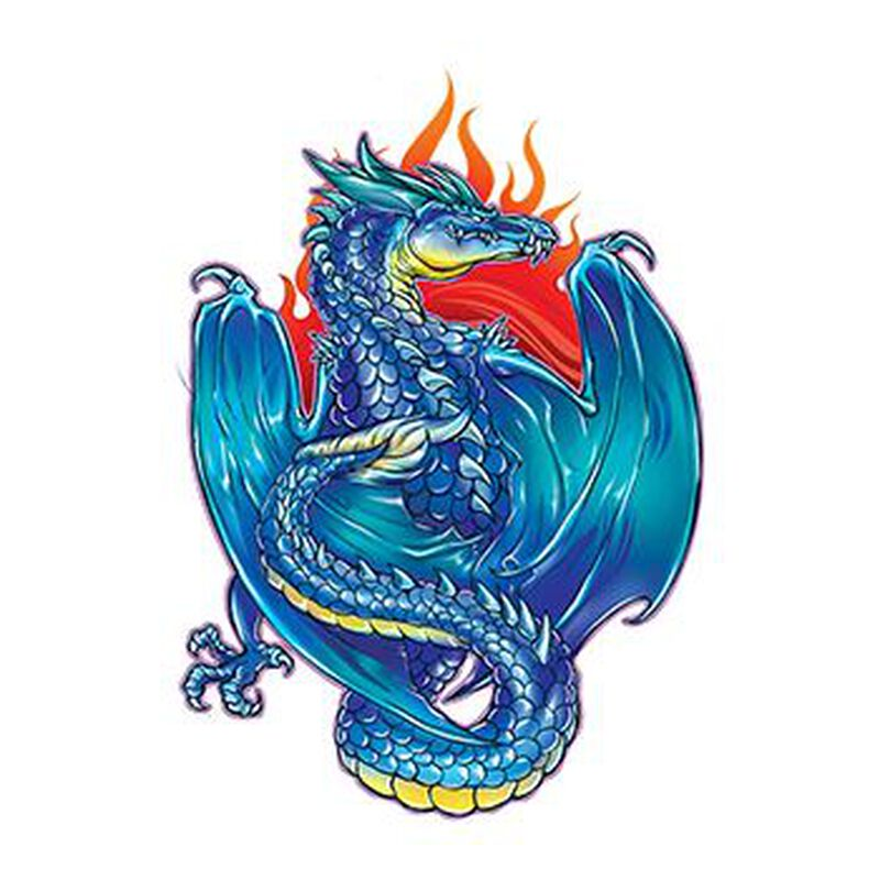 Mythical Blue Dragon Temporary Tattoo image number null
