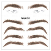 Men's Brunette Eyebrow Temporary Tattoos