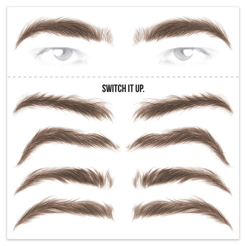 Men's Brunette Eyebrow Temporary Tattoos image number null