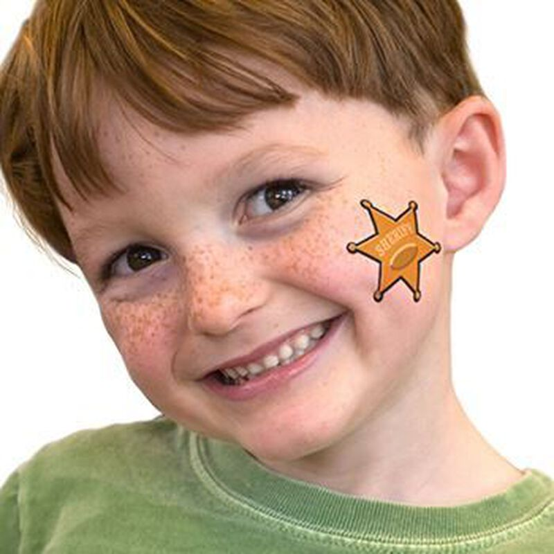 Sheriff Star Temporary Tattoo image number null