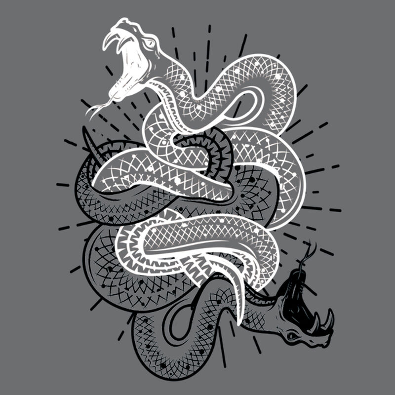WRAPPED BLACK & WHITE SNAKE TEMPORARY TATTOO image number null