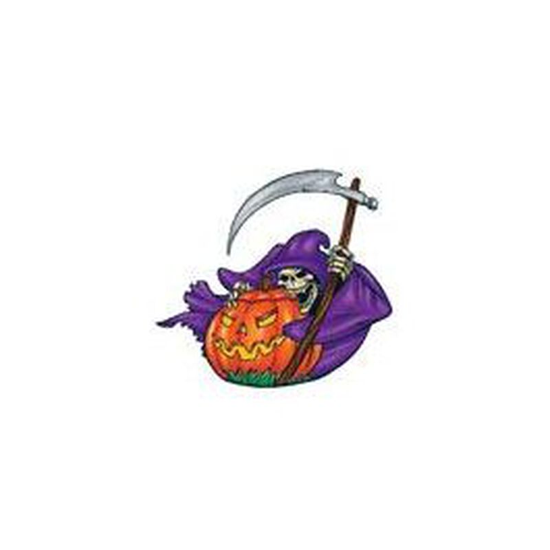 Death Pumpkin Temporary Tattoo image number null
