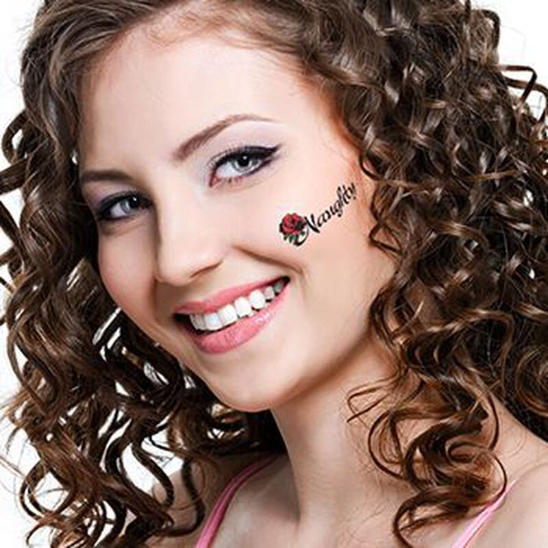 Naughty Rose Temporary Tattoo image number null