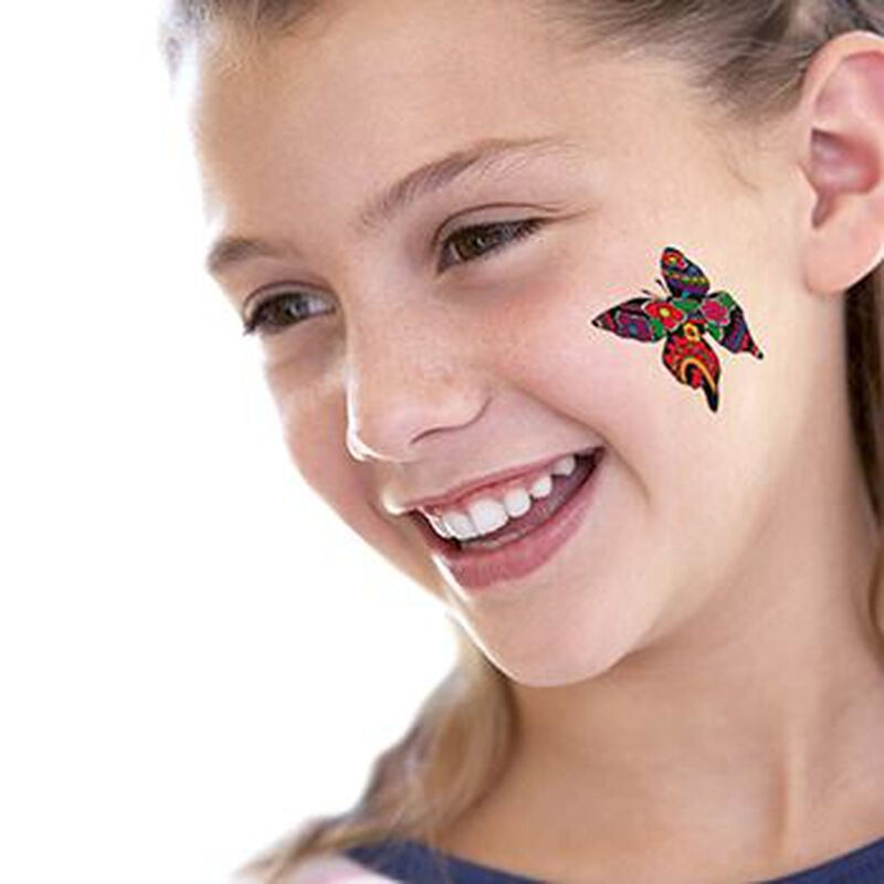 Patterned Butterfly Temporary Tattoo image number null