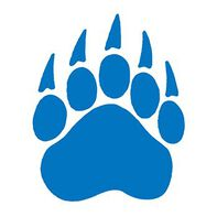 Royal Blue Claw Paw Temporary Tattoo
