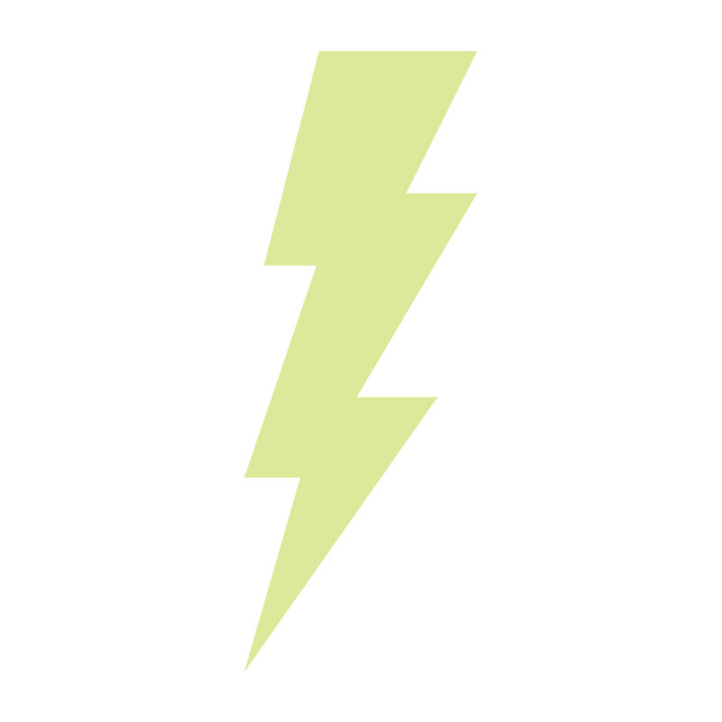 Lightning Bolt Glow-in-the-Dark Temporary Tattoo image number null