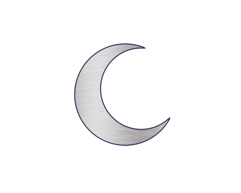 Metallic Crescent Moon Temporary Tattoo (Large) image number null