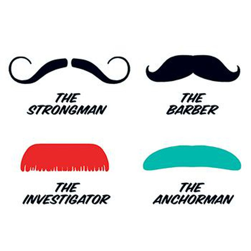 Fingerstaches: The Strongman Temporary Tattoo Set image number null