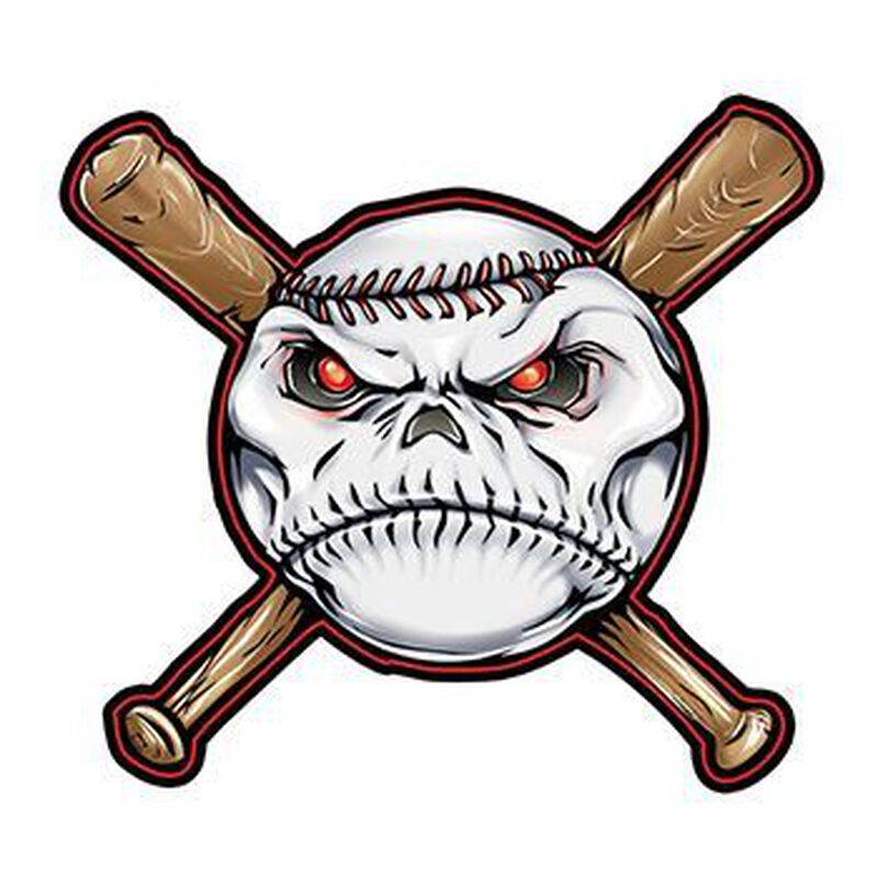 Baseball and Bats Temporary Tattoo image number null