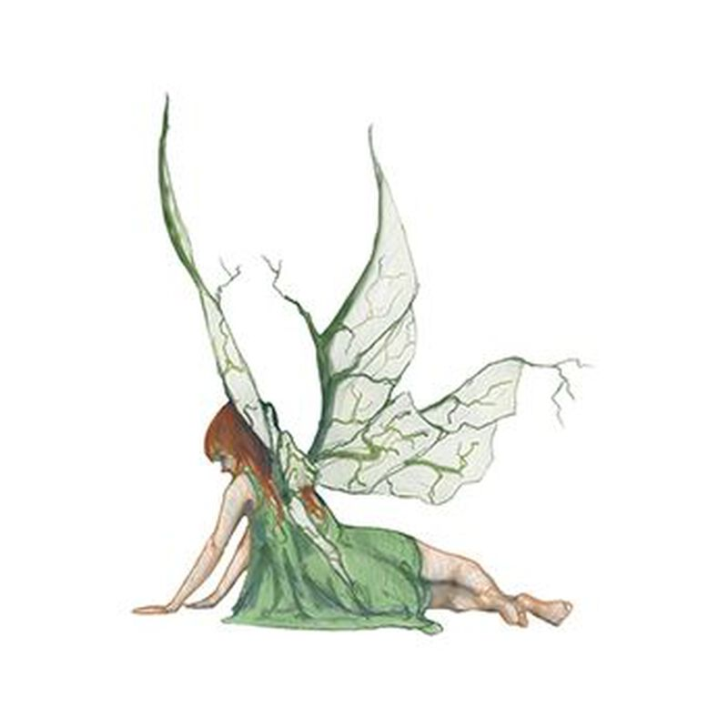 Mythical Green Fairy Nymph Temporary Tattoo image number null