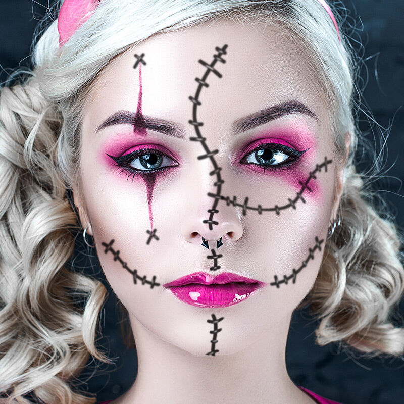 Stitches Costume Tattoo image number null