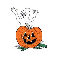 Glow in the Dark Ghost and Pumpkin Temporary Tattoo