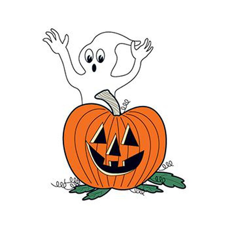 Glow in the Dark Ghost and Pumpkin Temporary Tattoo image number null