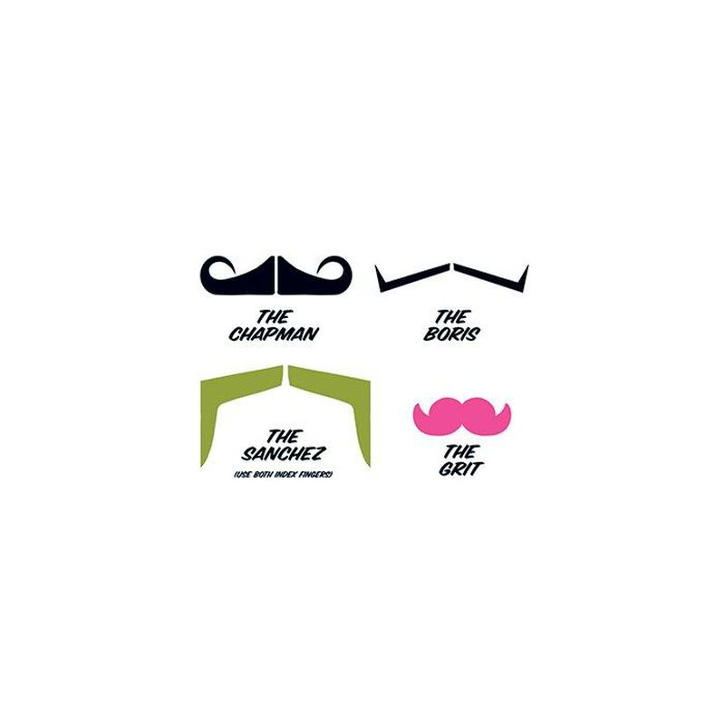 Fingerstaches: The Boss Temporary Tattoo Set image number null