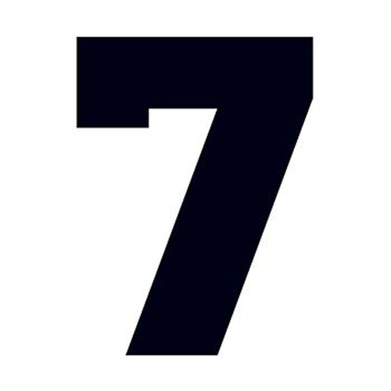 Number 7 Temporary Tattoo image number null