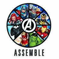 Avengers Assemble Badge Temporary Tattoo