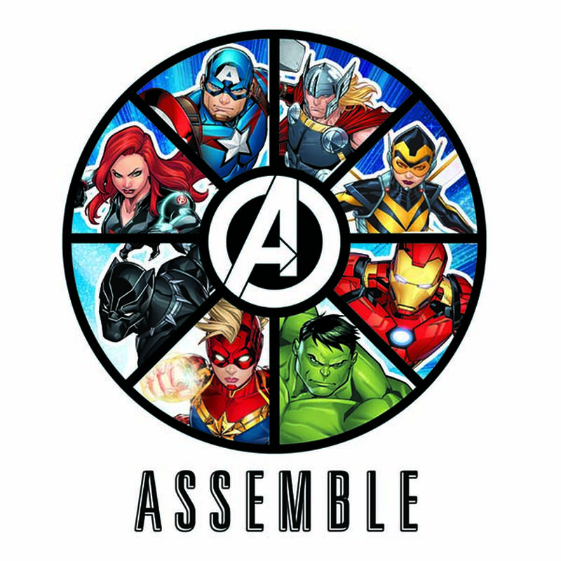 Avengers Assemble Badge Temporary Tattoo image number null