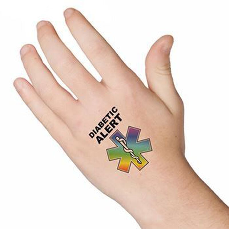 Diabetic Alert Temporary Tattoo image number null