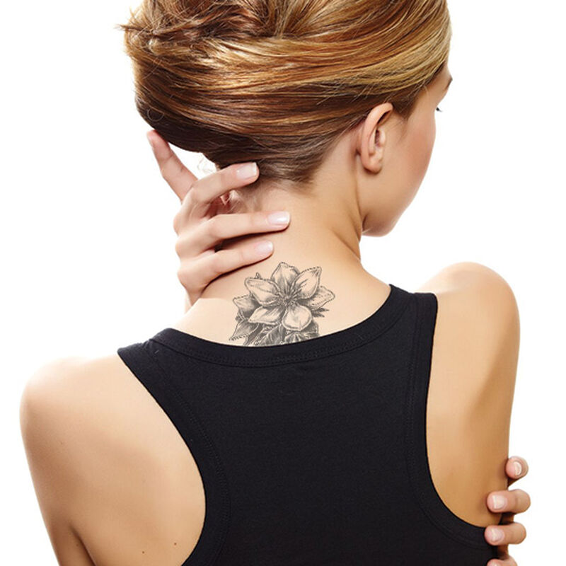 Gray Magnolia Temporary Tattoo image number null