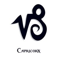 Zodiac: Capricorn Temporary Tattoo