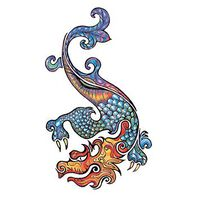 Traditional Dragon Temporary Tattoo