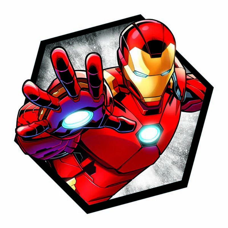 Avengers Iron Man Badge Temporary Tattoo image number null