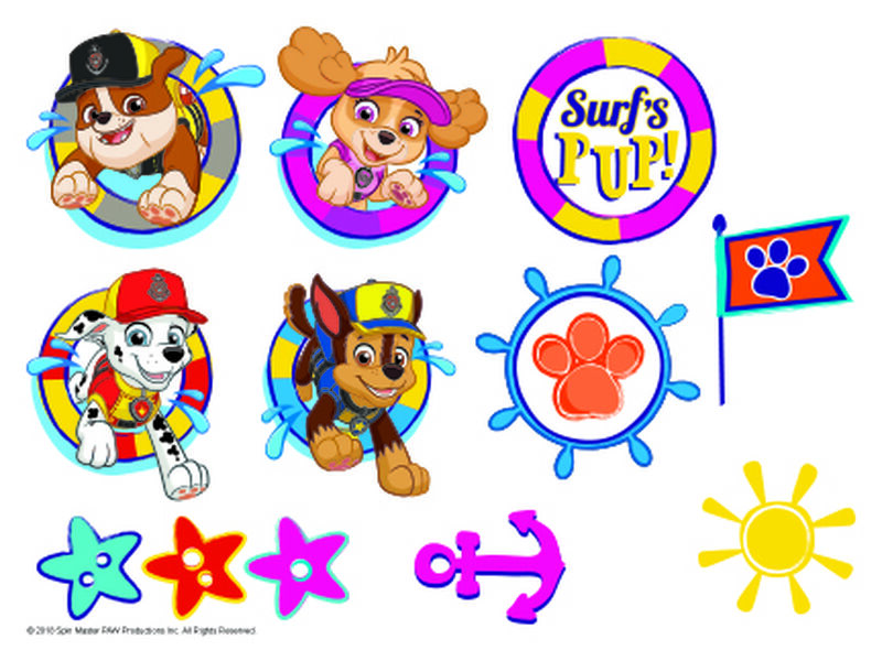 PAW Patrol Splash Temporary Tattoo Sheet image number null