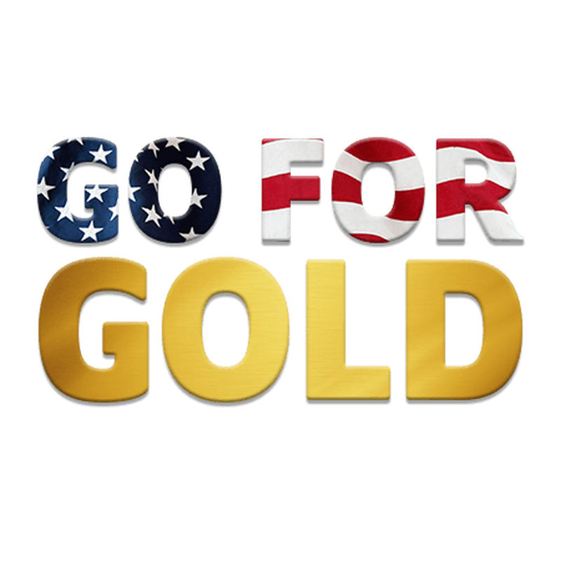 Go For Gold America Temporary Tattoo image number null