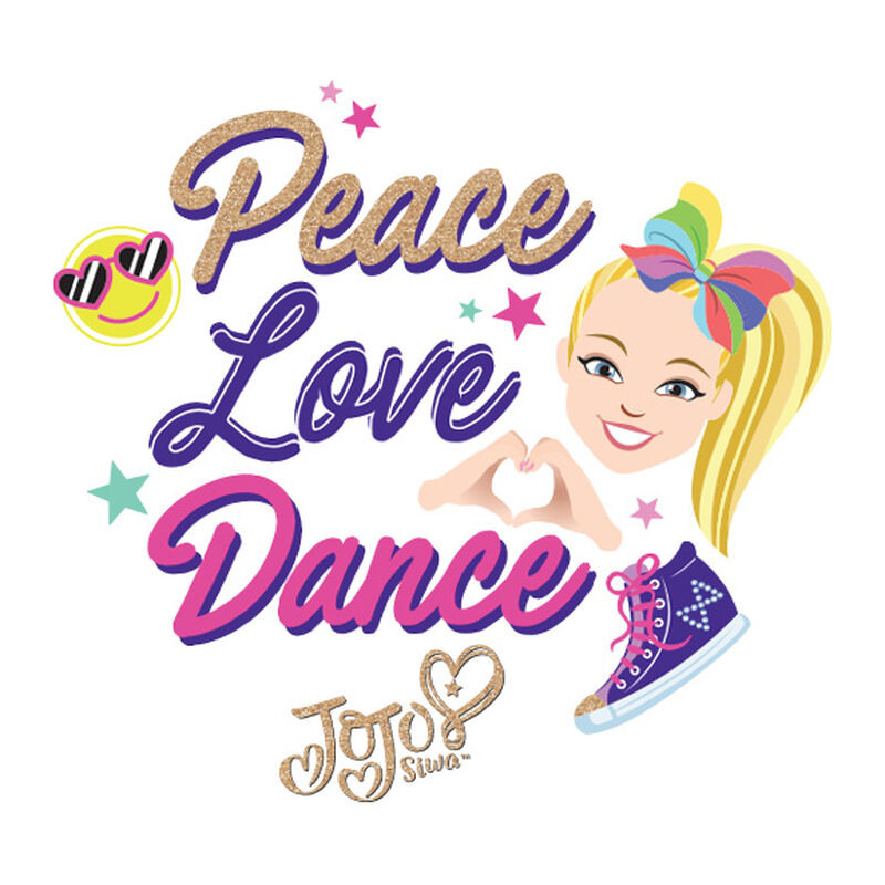 JoJo Siwa Peace, Love, Dance Temporary Tattoo image number null