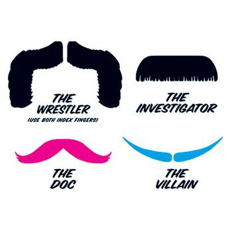 Fingerstaches: The Wrestler Temporary Tattoo Set image number null