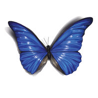 Royal Blue 3D Butterfly Temporary Tattoo