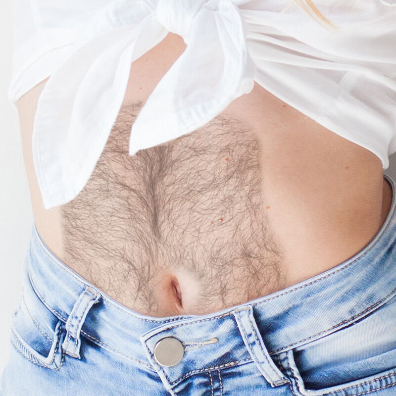 Hairy Belly Costume Tattoo image number null