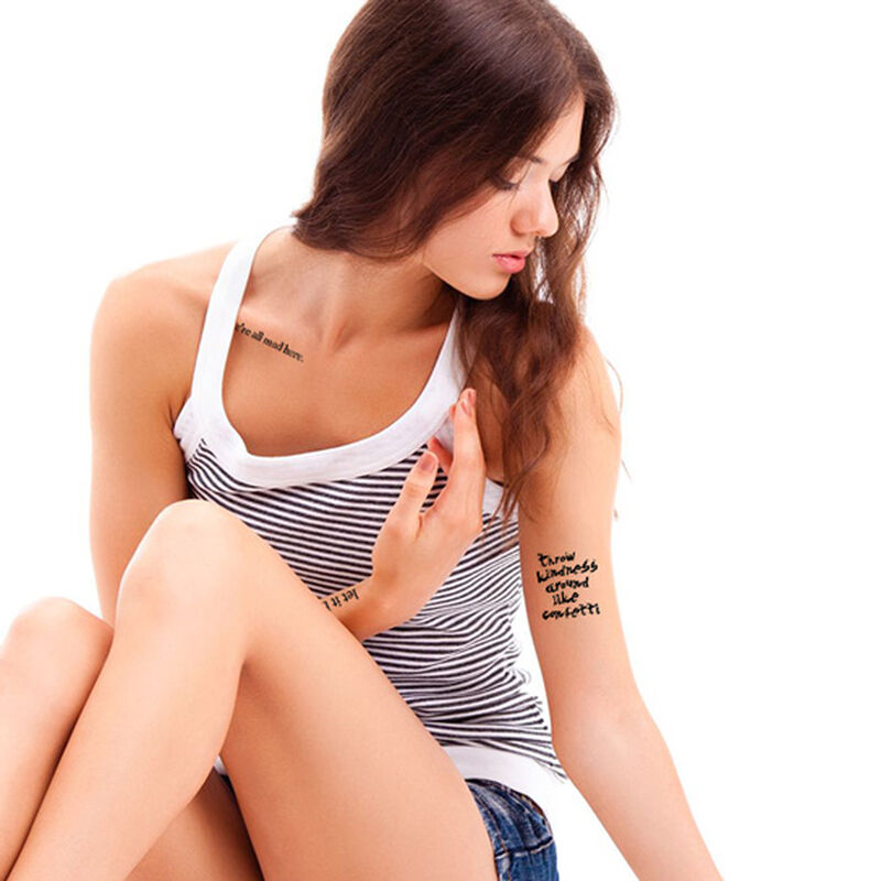 Cute Quotes Temporary Tattoo image number null