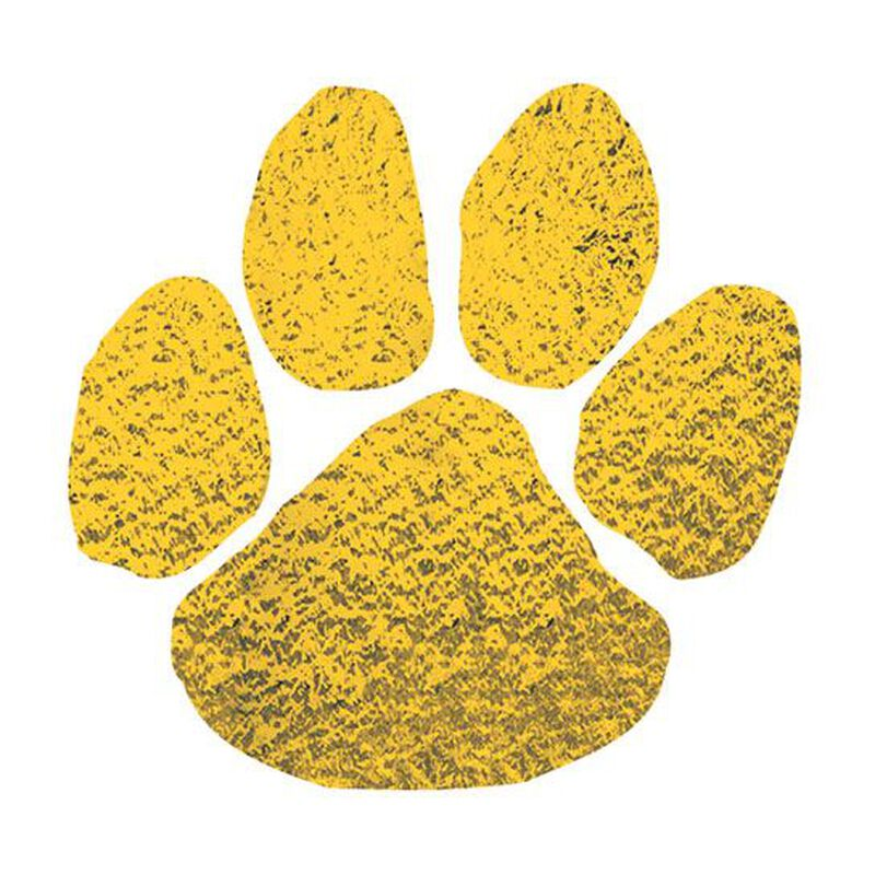 Metallic Gold Paw Temporary Tattoo image number null