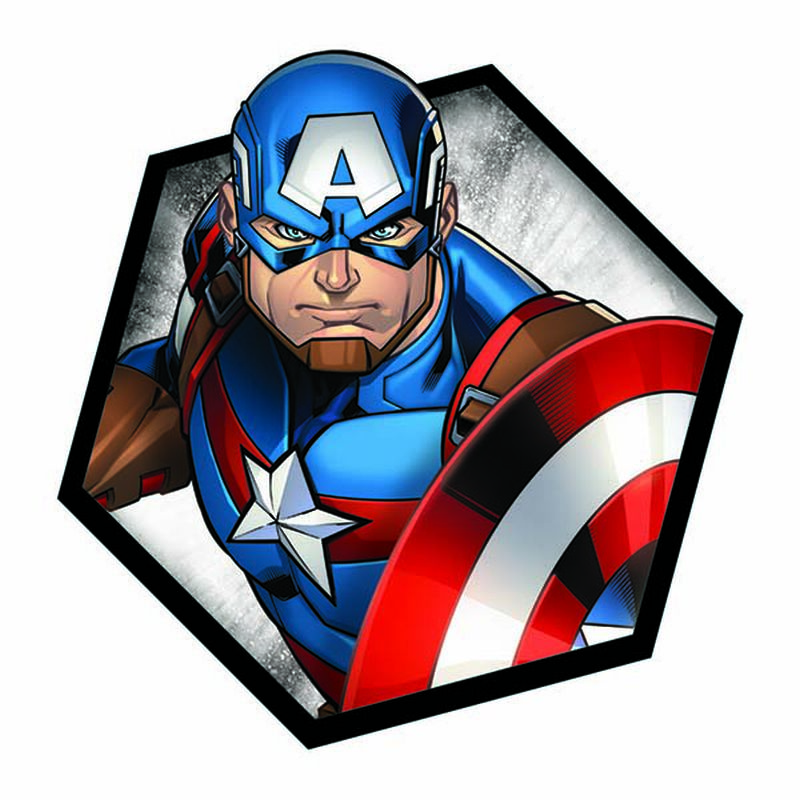 Avengers Captain America Badge Temporary Tattoo image number null