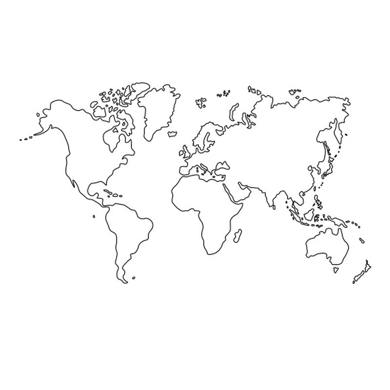World Map Temporary Tattoo image number null