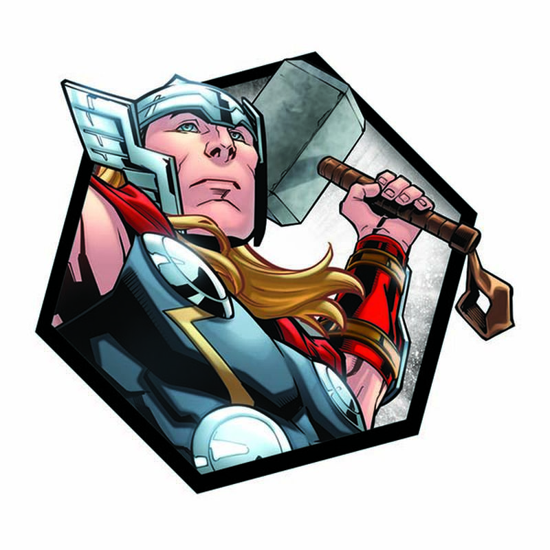 Avengers Thor Badge Temporary Tattoo image number null