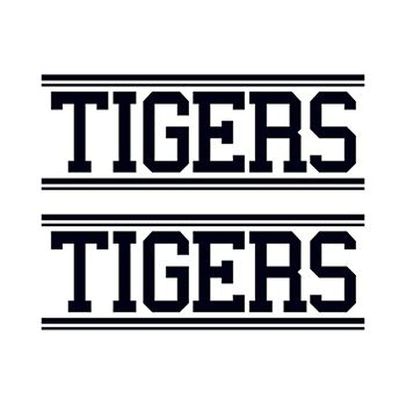 Tigers Text Temporary Tattoo image number null