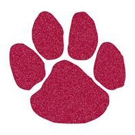 Glitter Burgundy Paw Print Temporary Tattoo