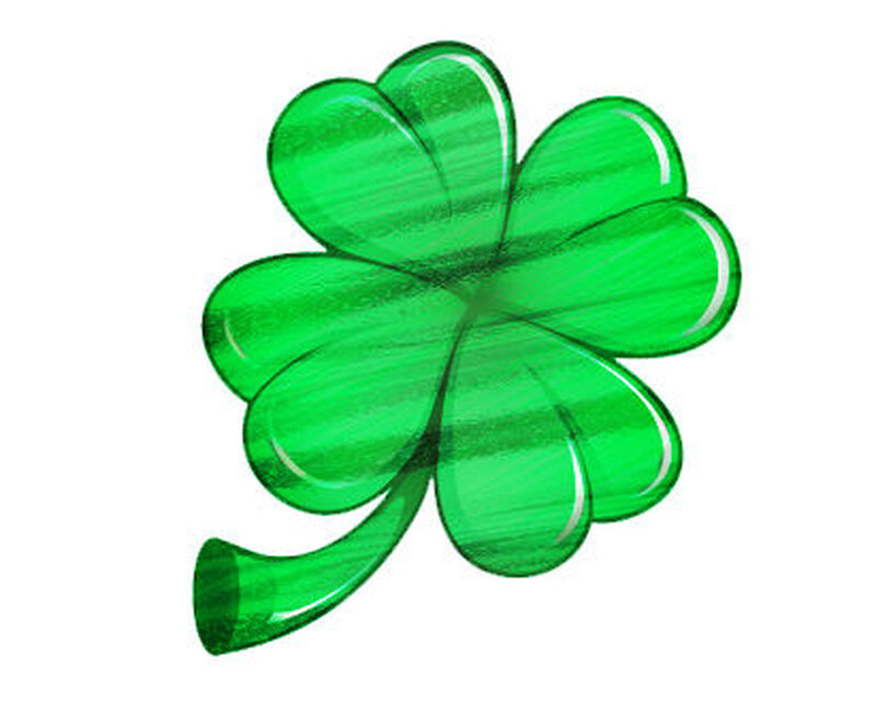 Metallic Clover Temporary Tattoo image number null