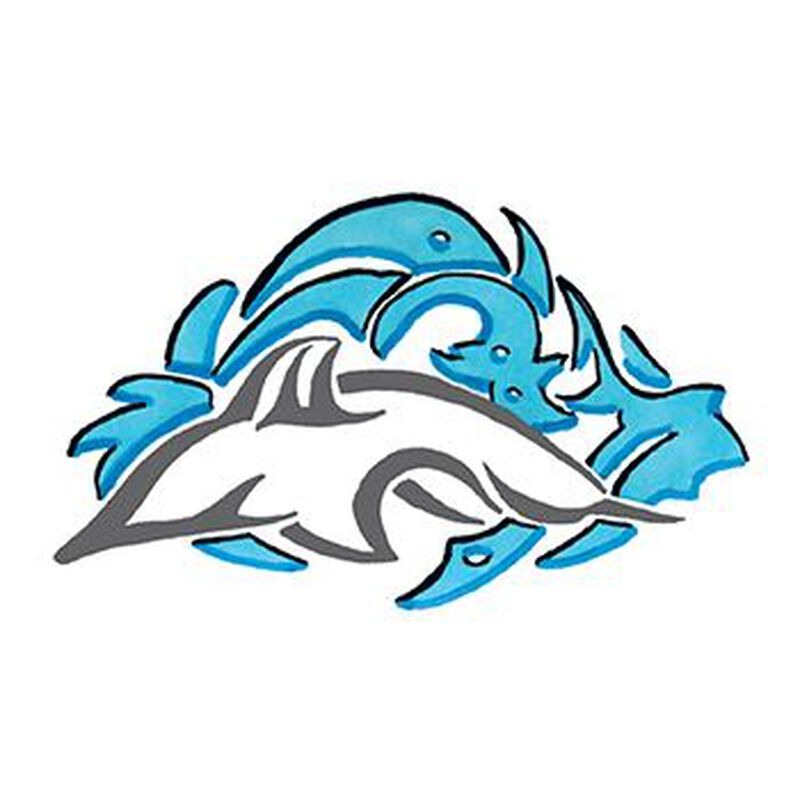 Tribal Dolphin Temporary Tattoo image number null
