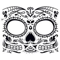 Day of the Dead: Skull Face Temporary Tattoo